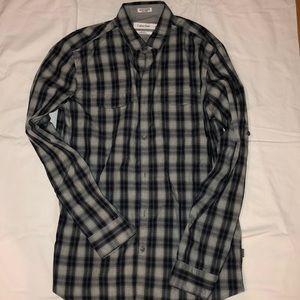 Calvin Klein Mens button down L/S shirt small